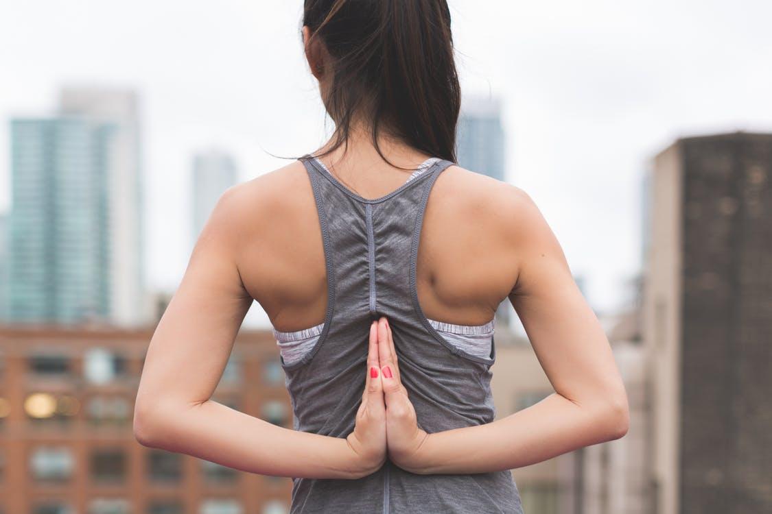 Woman yoga pose in Tucson