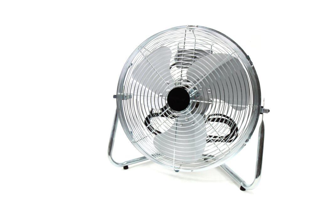 Chrome room fan