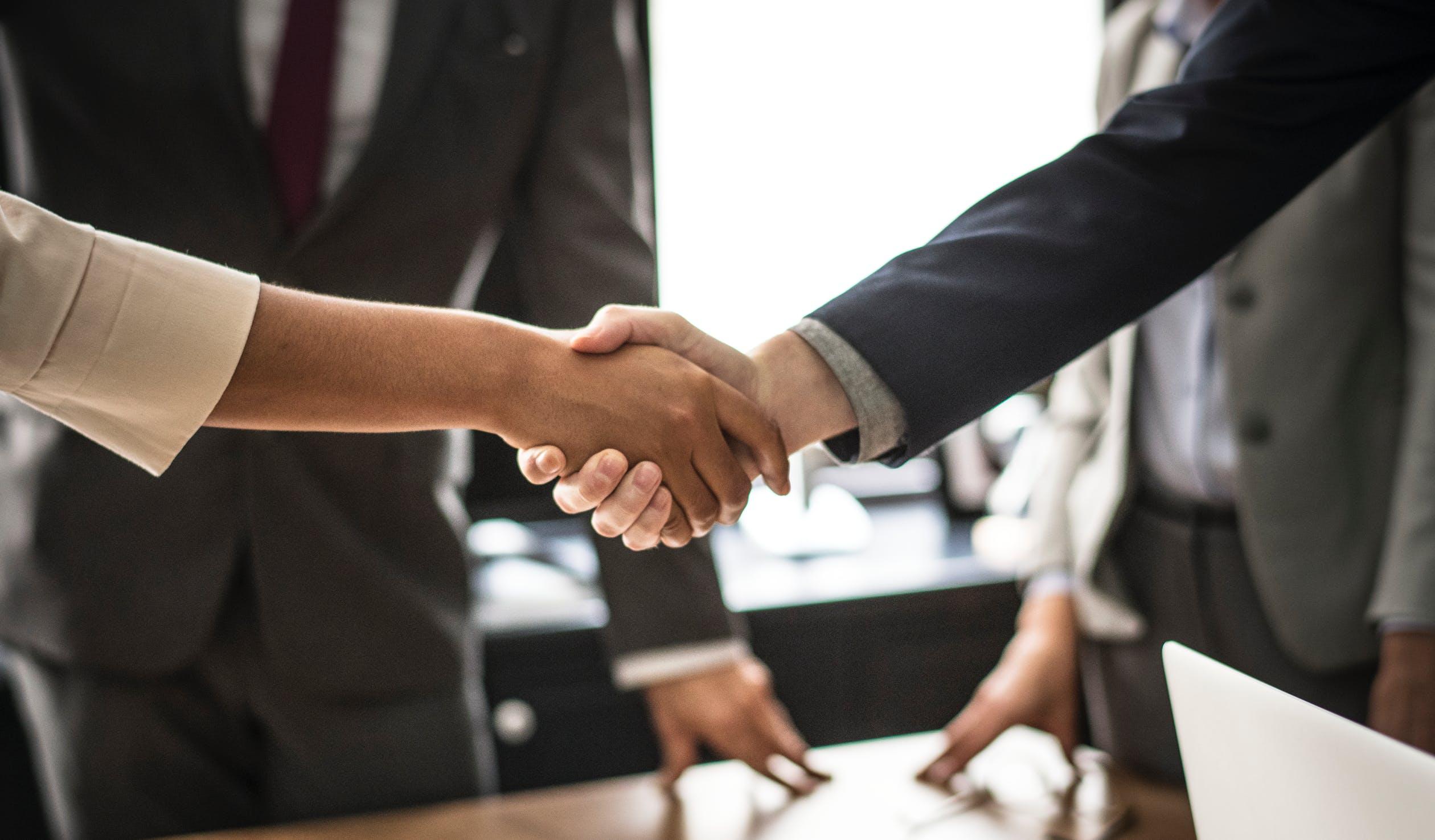 Handshake closing escrow