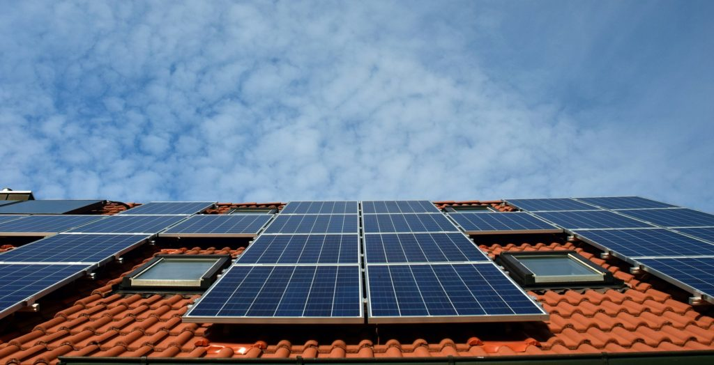 solar panels home sun
